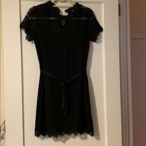 Lauren Conrad Black Lace Dress with Black Lining